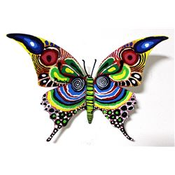 """Patricia Govezensky- Original Painting on Cutout Steel """"Butterfly CLXV"""""""
