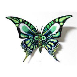 "Patricia Govezensky- Original Painting on Cutout Steel ""Butterfly CXLI"""