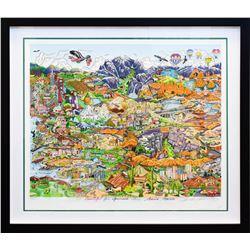 "Charles Fazzino- 3D Construction Silkscreen Serigraph ""O BEAUTIFUL FOR SPACIOUS SKIES…AMERICA…AMERIC"