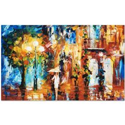 """Leonid Afremov """"Streetside Expression"""" Limited Edition Giclee on Canvas, Numbered and Signed; Certif"""
