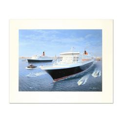 """Gordon Bauwens, """"Cunard Queens"""" Limited Edition, Numbered and Hand Signed."""