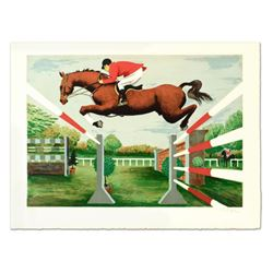 """Pierre Charles Bayle, """"The Jump"""" Limited Edition Lithograph, Numbered and Hand Signed."""