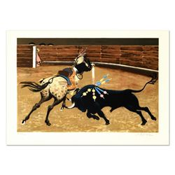 """Pierre Charles Bayle, """"Bull Ring"""" Limited Edition Lithograph, Numbered and Hand Signed."""