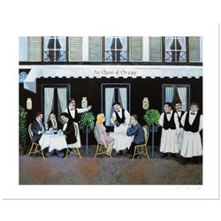 "Guy Buffet, ""Au Qui D Orsay"" Limited Edition Serigraph; Numbered and Hand Signed with Certificate of"