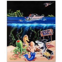 """Sand Bar 1"" Mural Limited Edition Hand-Embellished Giclee on Canvas (42"" x 53"") by Michael Godard,"