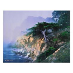 "H. Leung, ""Big Sur Cypress"" Limited Edition on Canvas, Numbered and Hand Signed with Letter of Authe"