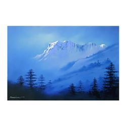 """Richard Leung, """"Snow Mountain"""" Limited Edition on Canvas, Numbered and Hand Signed with Letter of Au"""