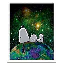 """Peanuts, """"On Top of the World"""" Hand Numbered Limited Edition Fine Art Print with Certificate of Auth"""