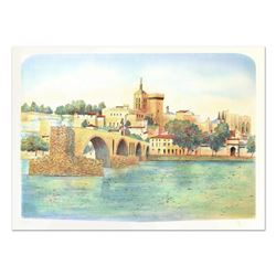 """Rolf Rafflewski, """"Avignon"""" Limited Edition Lithograph, Numbered and Hand Signed."""