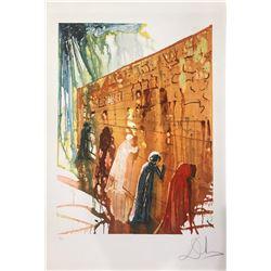 "Salvador Dali  ""Wailing Wall"" Lithograph"