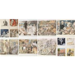 LUCIEN MORETTI SUITE SUR ARCHES 14 LITHOGRAPHS SUITE H/S & MATCHING NUMBERS COA