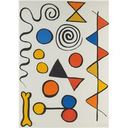 Alexander Calder Hand Signed and Numbered Lithograph