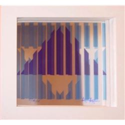 Yaacov Agam Silkscreen on Mirror HS&N