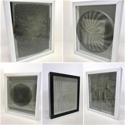 Victor Vasarely 3D Wall Sculpture/object - Set of 5