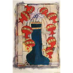 AVI BEN SIMHON Original Painting on Paper