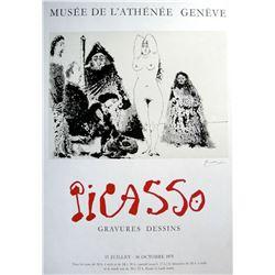 Pablo Picasso Hand signed Original Lithograph Poster