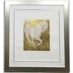 """RARE GUILLAUME AZOULAY """"CLASSICO"""" GOLD LEAF EDITION SERIGRAPH H/S & N"""