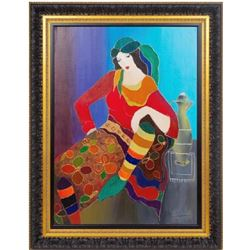 Itzchak Tarkay Original Acrylic on Canvas Custom Framed