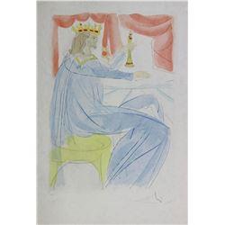 "Salvador Dali ""King Solomon"" Lithograph"