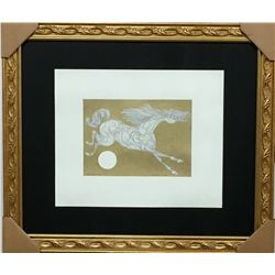 """GUILLAUME AZOULAY """"SIMPLE STUDY"""" ORIGINAL PEN & INK DRAWING WITH H/COLORING COA"""