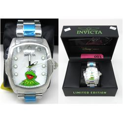 New in Box Invicta Muppets Kermit the Frog Watch