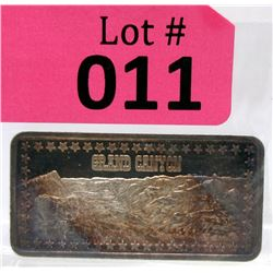 "1 Oz.  .999 Fine Silver ""Grand Canyon"" Art Bar"