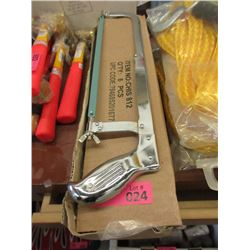 Box of 6 New Steel Hack Saws