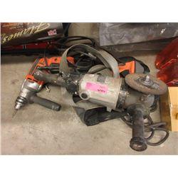 Ridgid Hammer Drill, H/D Grinder & Strap