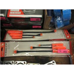 6 New 3 Piece Mechanics Off Set Pry Bar Set