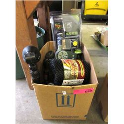 Box of Hose Nozzles, Timers, Gutter Guard & More