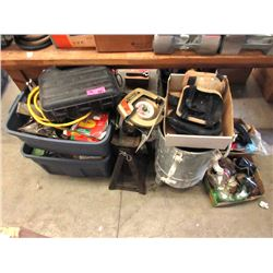 9 Boxes of Assorted Tools & Hardware