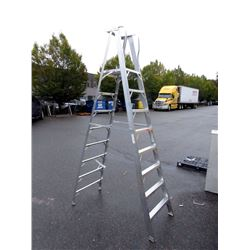 New Freight Damaged 10 Foot Aluminum Step Ladder