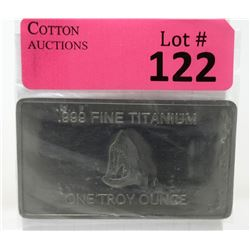 1 Oz. Australia Mint .999 Fine Titanium Bar