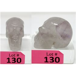 650.5 CT Carved Amethyst Gemstone 3D Skull