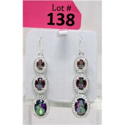 New Rainbow Mystic Topaz Dangle Earrings