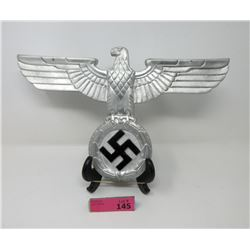 Metal Eagle and Swastika Wall Plaque