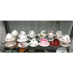 21 Bone China Teacups - Many Vintage