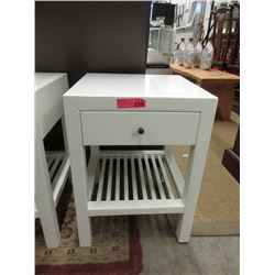 """New White """"Style In Form"""" End Table with Drawer"""