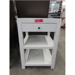 New White End Table / Night Stand with Drawer