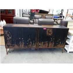 New Brown & Black 4 Door Rustic Side Board