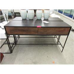 New Tobin Mango Wood 2 Drawer Console Table