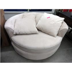 New Ivory Chenille Cuddler Chair with 4 Cushions