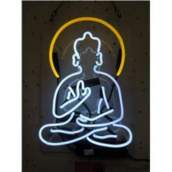 "New Electric Neon Buddha Sign - 9"" x 14"""