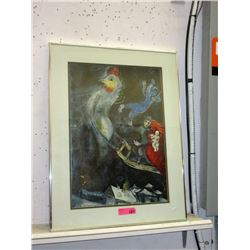 Marc Chagall Framed Print of The Flying Horse