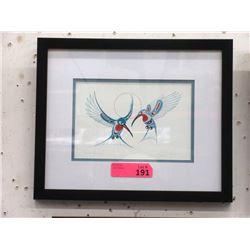 Richard Shorty Framed Print - Humming Birds