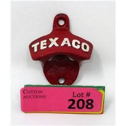Cast Iron Texaco Wall Mount Bottle Opener