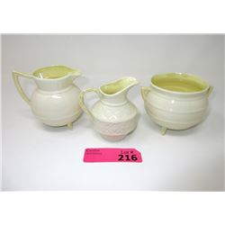 Belleek Cream and Sugar with extra creamer