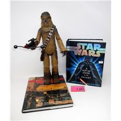 "Star Wars Talking 11"" Chewbacca & 2 Books"