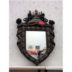 "Medieval Style Wall Mirror - 18"" x 28"" tall"