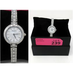 New in Box Ladies Swarovski Crystal Bulova Watch
